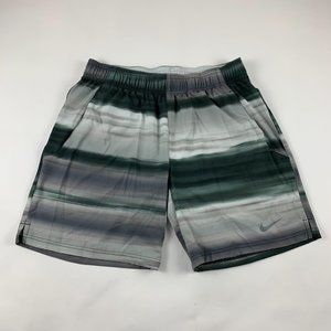 Nike Gray Ombré Striped Dri Fit Shorts L
